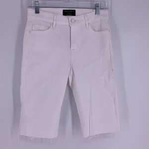 Sanctuary Denim White Cut-Off Bermuda Shorts